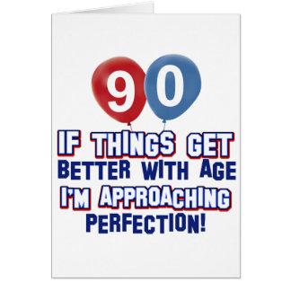 90th birthday designs card