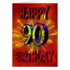 90th Birthday Fireworks Card