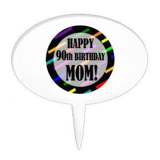 90th Birthday For Mom Cake Picks