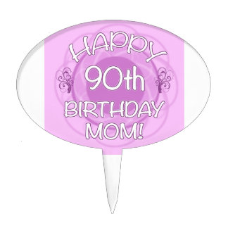 90th Birthday For Mom Cake Topper