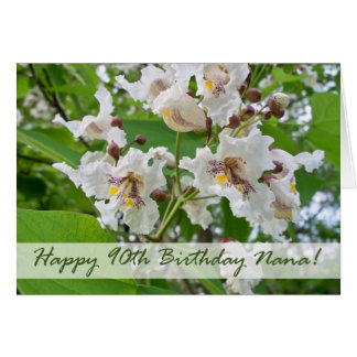 90th Birthday for Nana, Catalpa Blossoms Card