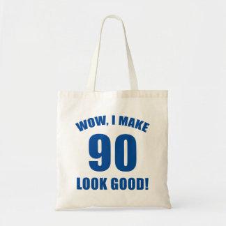 90th Birthday Gag Gift (b) Budget Tote Bag