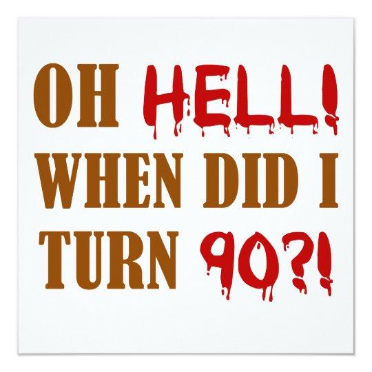 90th Birthday Gag Gift Card