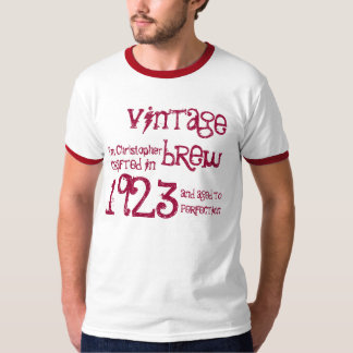 90th Birthday Gift 1923 Vintage Brew Name For Him T-Shirt