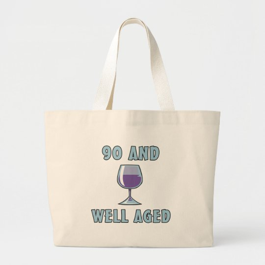 90th Birthday Gifts Large Tote Bag