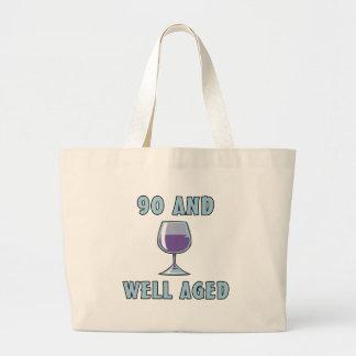 90th Birthday Gifts Jumbo Tote Bag