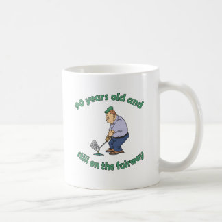 90th Birthday Golfer Gag Gift Basic White Mug