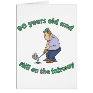 90th Birthday Golfer Gag Gift Greeting Card