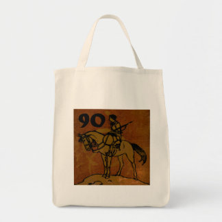 90th Birthday Grocery Tote Bag