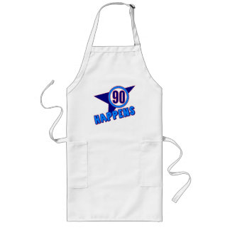 90th Birthday Happens Gifts Long Apron