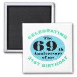 90th Birthday Humour Square Magnet