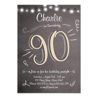 90th Birthday Invitation Vintage Ninety Birthday