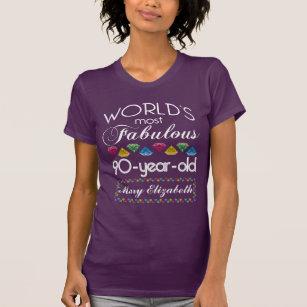 90th Birthday Celebration T Shirts Shirt Designs