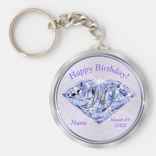 90th Birthday Party Favours PERSONALIZED for Her Key