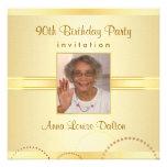 90th Birthday Party Invitations - Photo Optional