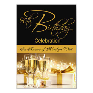 90th Birthday Party Personalized Invitation