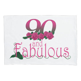 90th birthday pink flowers pillow cover