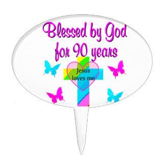 90TH BIRTHDAY PRAYER CAKE PICKS