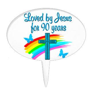90TH BIRTHDAY PRAYER CAKE TOPPER