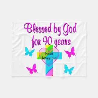 90TH BIRTHDAY PRAYER FLEECE BLANKET