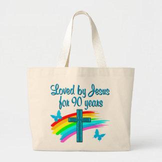 90TH BIRTHDAY PRAYER JUMBO TOTE BAG