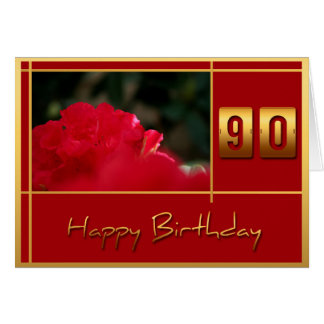 90th Birthday Rhododendron Quote Greeting Card