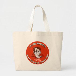 90th Birthday T-shirts and Gifts Jumbo Tote Bag
