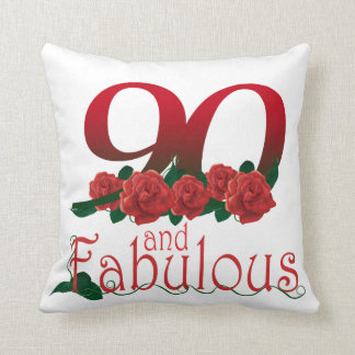 "90th birthday Throw Pillow 16"" x 16"""