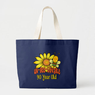 90th Birthday - Unbelievable at 90 Years Old Large Tote Bag