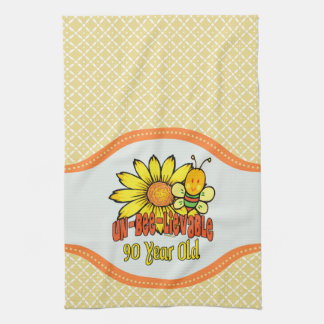 90th Birthday - Unbelievable at 90 Years Old Tea Towel