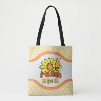 90th Birthday - Unbelievable at 90 Years Old Tote Bag
