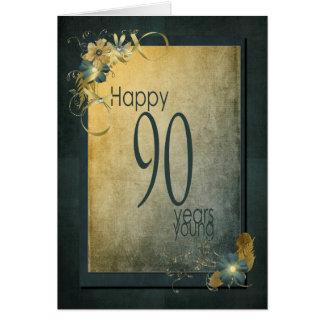 90th Birthday-vintage frame Card