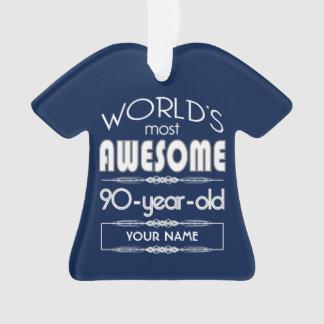 90th Birthday Worlds Best Fabulous Dark Blue