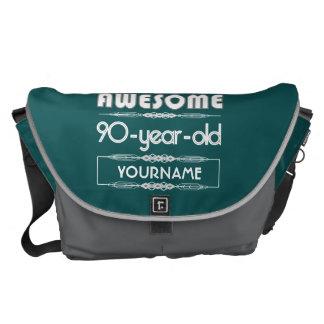 90th Birthday Worlds Best Fabulous Dark Green Fore Messenger Bag