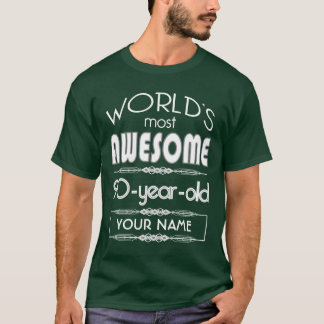 90th Birthday Worlds Best Fabulous Dark Green T-Shirt