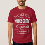 90th Birthday Worlds Best Fabulous Dark Red Maroon Tee Shirts