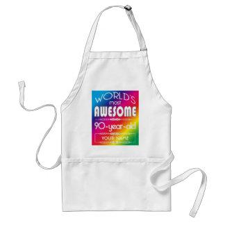 90th Birthday Worlds Best Fabulous Rainbow Standard Apron