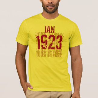 90th Birthday Year Gift The Best 1923 Vintage T-Shirt