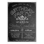 90th Chalkboard Birthday Celebration Invitation