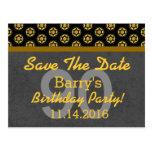 90th Save the Date Dark Grey Gold 05E SHIP WHEELS Postcard