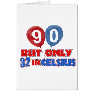 90th year birthday designs card