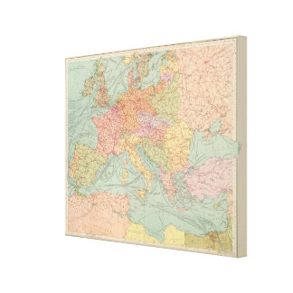 910 Lines of Communication, Central Europe Canvas Print