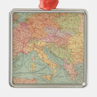 910 Lines of Communication, Central Europe Silver-Colored Square Decoration