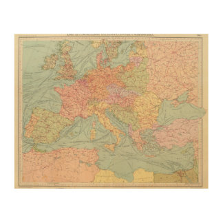 910 Lines of Communication, Central Europe Wood Print