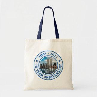 911 10 Year Anniversary Bags