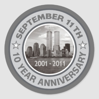 911 10 Year Anniversary Stickers