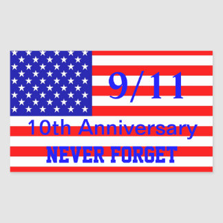 911 10th Anniversary Patriotic Stickers
