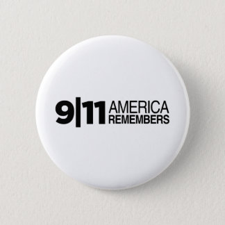 911 America Remembers 6 Cm Round Badge