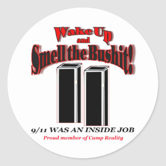 911 Bushit Stickers