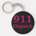 911 Dispatch Centre Basic Round Button Key Ring
